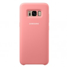 Capac protector Samsung silicone cover pink pt Galaxy S8+