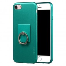 Capac protector X-level Jelly Green cu suport inel pt iPhone 7