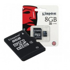 Card de memorie Kingston microSDHC 8gb + adaptor SD