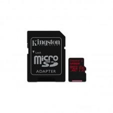 Card de memorie Kingston MicroSDXC Canvas React, 128GB, Class 10, 100R, UHS-I U3, V30 + Adaptor