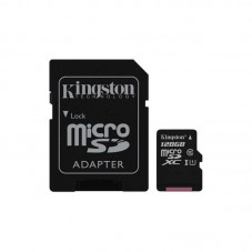 Card de memorie Kingston MicroSDXC Canvas Select, 128GB, 80R, Class 10, UHS-I + adaptor