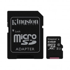 Card microSD Kingston SDCS 64GB cu adaptor