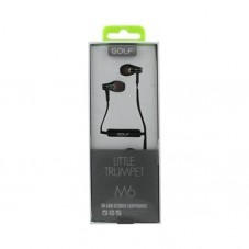 Casti cu fir & microfon Golf M6, black