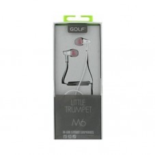 Casti cu fir si microfon Golf M6, white