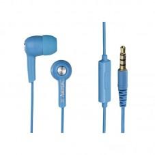 Casti Hama cu fir si microfon HK2103, blue