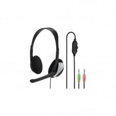 Casti office cu fir si microfon Hama HS-P100PC, black