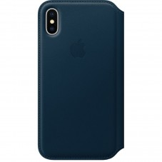 Husa Apple Folio piele electric blue pt Iphone X MRGE2ZM-A