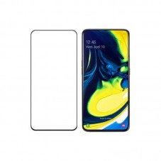 Folie protectie ecran OkMore Tempered Glass Full Size Full Glue pt Samsung Galaxy A80, black