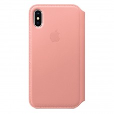Husa Apple Folio piele soft pink pt Iphone X MRGF2ZM-A