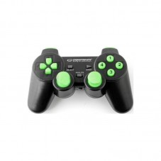 Gamepad Esperanza Gladiator EGG108G 2.4GHz USB pt PC/PS3, black/green