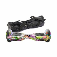 Scooter Electric (Hoverboard) Freewheel Junior - Graffiti purple si husa cadou