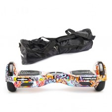 Scooter Electric (Hoverboard) Freewheel Complete Graffiti blue + Geanta 6.5 inch Cadou