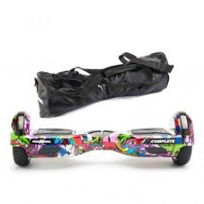 Scooter electric (hoverboard) Freewheel Complete Graffiti purple + geanta cadou