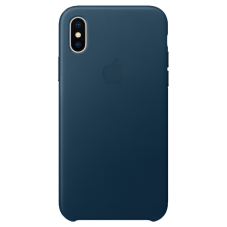 Husa protectie spate Apple piele MQTH2ZM cosmos blue pt iPhone X