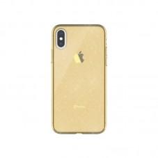 Husa protectie spate Hana Clear pt Huawei P30 lite, gold