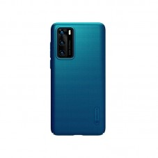 Husa protectie spate Nillkin Super Frosted Shield Matte pt Huawei P40, peacock blue