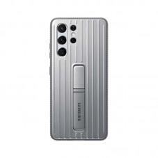 Husa protectie spate Samsung Clear Protective Standing Cover pt Samsung Galaxy S21 Ultra, light gray