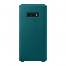 Husa protectie spate Samsung leather cover green pt Samsung Galaxy S10e