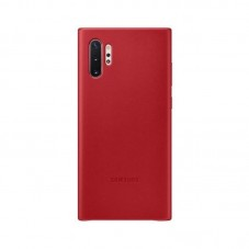 Husa protectie spate Samsung Leather Cover pt Galaxy Note 10+, red