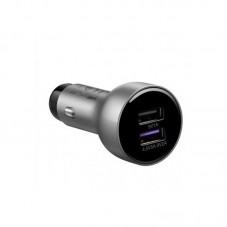 Incarcator auto + cablu date Huawei AP38, Dual USB,Type-C, 5A, Fast Charging, silver