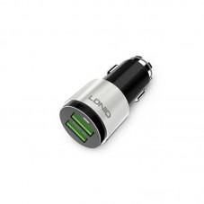 Incarcator auto Ldnio C403 dual USB si cablu Lightning fast charging, black