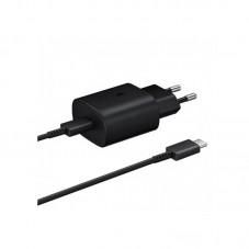 Incarcator retea Samsung EP-TA800XBEGWW Fast Charger, 1 x USB-C, 25W + cablu USB-C, black