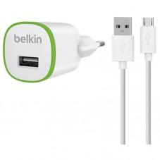 Incarcator retea si cablu de date Belkin F8M710VF04 white microusb