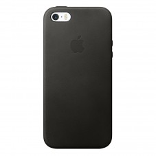 Capac protector Apple piele black pt Iphone 5/5S/SE