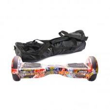 Scooter electric (hoverboard) Freewheel Junior - Graffiti blue si husa cadou