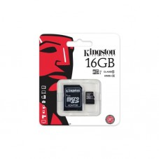 Card de memorie Kingston 16gb cu adaptor clasa 10