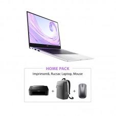 Pachet Huawei Matebook D14 + imprimanta + accesorii