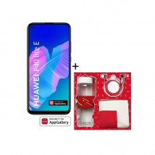 Pachet Huawei P40 lite E, midnight black + Gift Box cu sticla termos