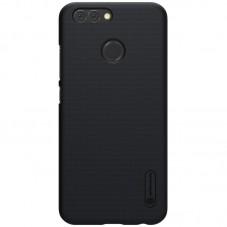 Husa de protectie Nillkin Frosted black si folie pt Huawei Nova 2