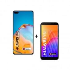 Pachet Huawei P40 5G, black + Huawei Y5P, black