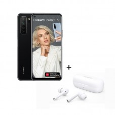 Pachet Huawei P40 lite 5G, midnight black + casti Bluetooth Huawei Freebuds 3i