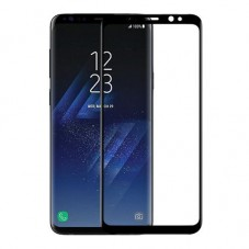Folie protectie ecran Premium Tempered glass full size full glue black pt Samsung Galaxy S9