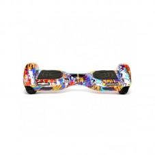 Scooter electric (hoverboard) Freewheel Complete Lite Graffiti, Bluetooth, LED-uri, Difuzoare, blue