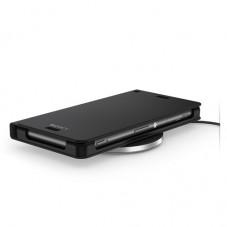 Kit incarcator wireless cu husa piele black Sony WCR14-WCH10 pt Xperia Z3