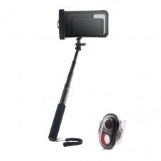 Stick selfie Forever PMP-04 cu telecomanda Bluetooth Waterproof black