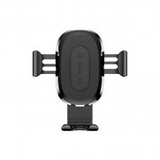 Suport auto Baseus Gravity cu Wireless Charger QI WXYL-01, black