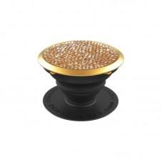 Suport stand adeziv Popsockets cu cristale Swarowski, golden shadow