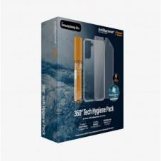 Kit PanzerGlass Hygience Pack husa protectie spate + folie protectie ecran pt Samsung Galaxy S21+, transparent
