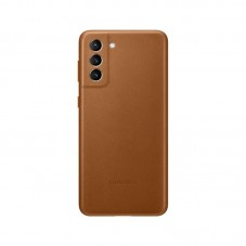 Husa protectie spate Samsung Leather Cover pt Samsung Galaxy S21, brown