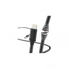Cablu Lightning Hama 1.5 m metal 183339, black