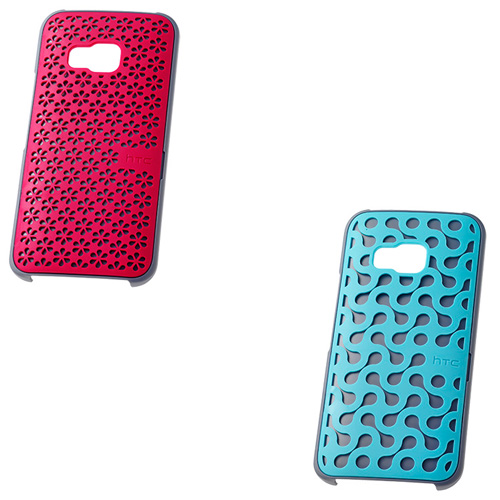 Set 2 capace protectoare HTC HCK1150 pt One M9 blue/pink