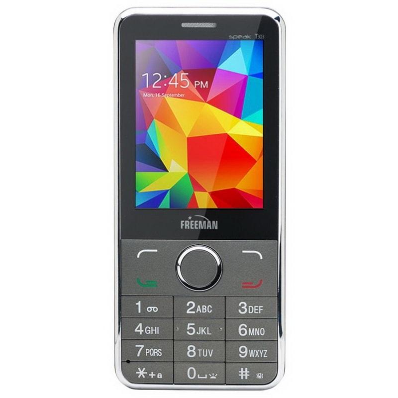 """Telefon E-Boda Freeman Speak 2.8″"""" T303 DUAL SIM + Spinner black"""