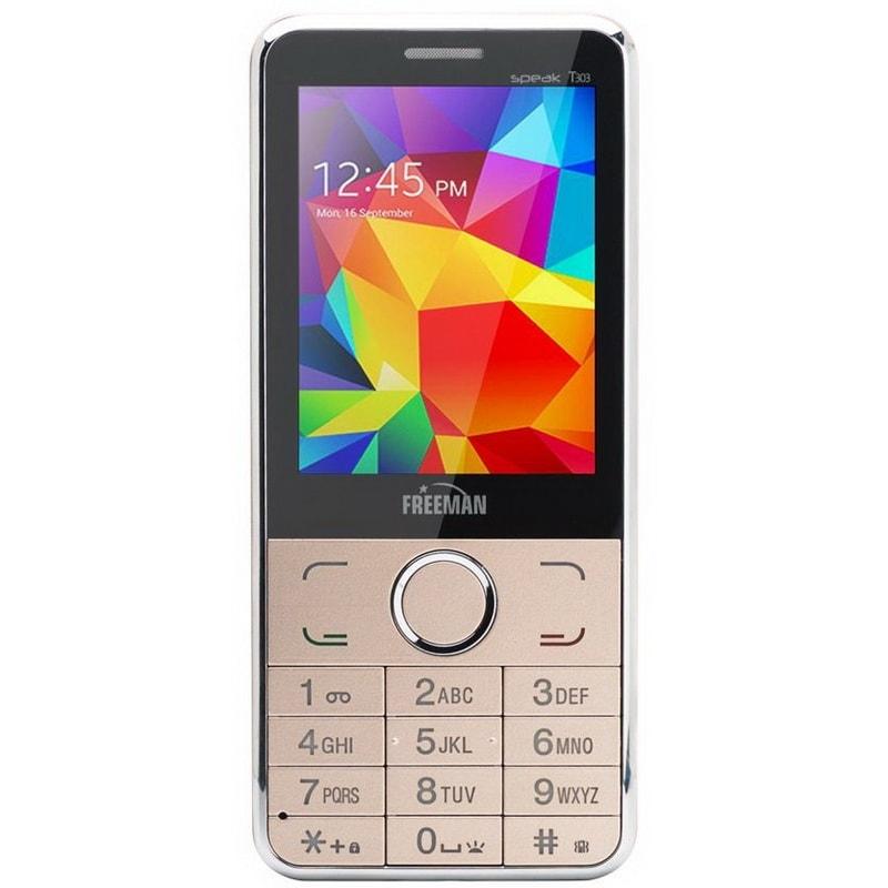 """Telefon E-Boda Freeman Speak 2.8″"""" T303 DUAL SIM + Spinner gold"""