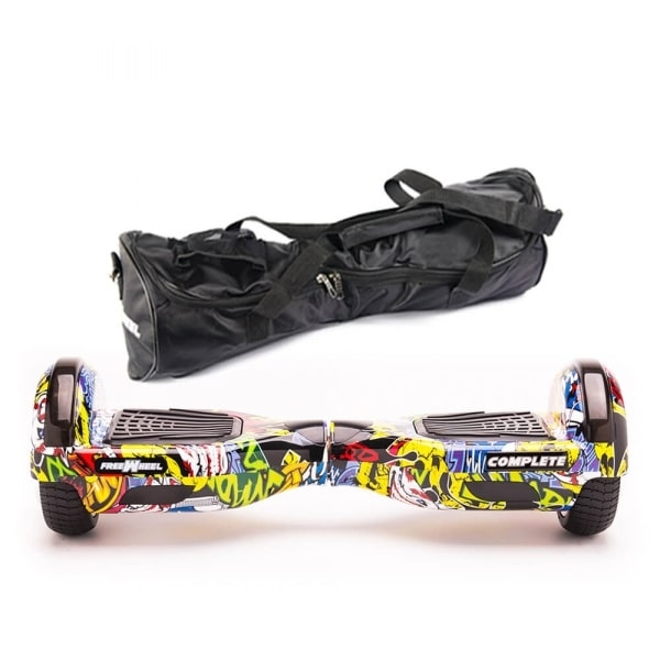 Scooter Electric (Hoverboard) Freewheel Complete yellow + Husa Cadou