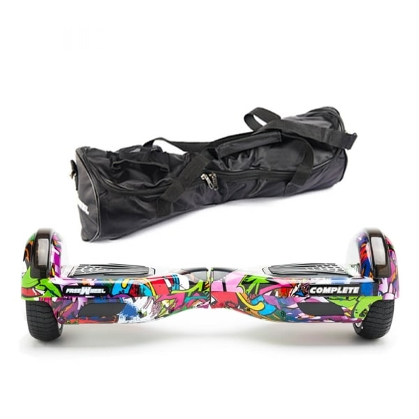 Scooter electric (hoverboard) Freewheel Complete Graffiti purple + geanta cadou