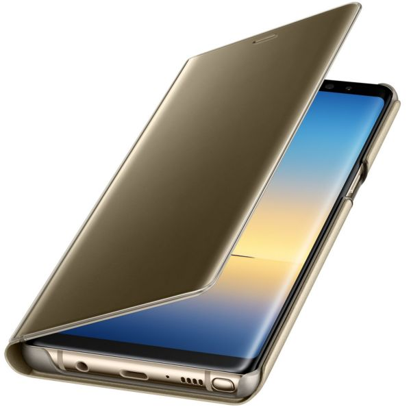 Husa Clear View Standing Gold pt Samsung Galaxy Note 8